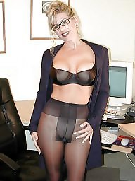Upskirt, Glasses, Stocking