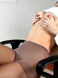 Upskirt stockings, Lady, Lady stockings, Alone