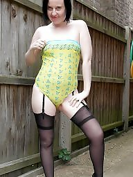 Stockings, Swimsuit, Outdoor, Outdoors, Suspenders, Swimsuite