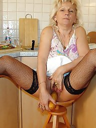 Mature amateur, Kitchen, Hot mature