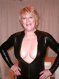 Pvc, Latex, Mom, Leather, Amateur mom, Mature leather