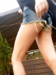 Teen ass, Romanian, Shorts, Short, Teen spy, Teen legs