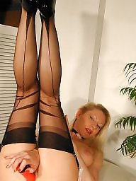 Nylon, Maid, Stockings, Older, Matures, Mature nylon