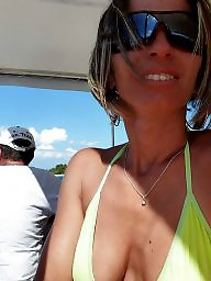 Mature bikini, Bikini, Downblouse, Mature dress, Dress, Dressed