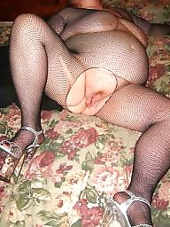 Spreading, Spread, Fishnet, Bbw spread, Bbw spreading