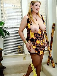 Curvy, Curvy mature, Boobs, Stocking milf, Stocking mature, Milf stockings