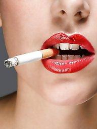 Smoking, Smoke, Love, Lipstick, Brunette