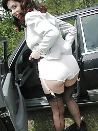 Car, Lady, Cars, Nylons, Stockings car