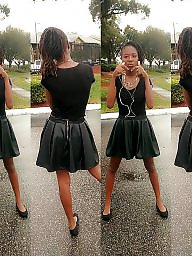 Skirt, Dressed, Shorts, Short skirt, Short, Ebony teen
