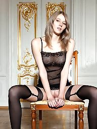 Stockings, Gorgeous, Teen stockings, Slips