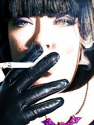 Smoking, Leather, Fetish, Smoke, Gloves, Cigarette