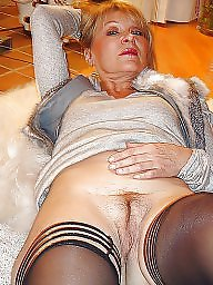 Mature blonde, Italian, Blonde mature, Old mature, Sexy stockings, Mature italian