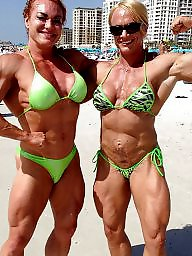 Piercing, Pierced, Bodybuilder, Female, Bodybuilding