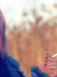 Smoking, Red, Smoke, Pink