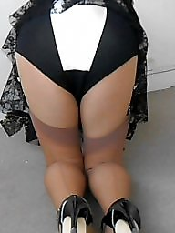 Nylon, Upskirts, Tanned, Upskirt stockings