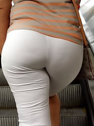 Tights, Tight, Hidden cam, Booty, White, White ass