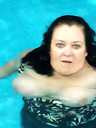 Pool, Boobs, Bbw milf, Mrs