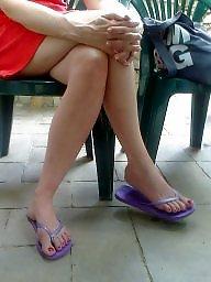 Milf legs, Candid, Milf feet