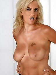 Blonde, Busty milf