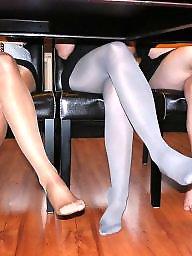 Pantyhose, Nylon, Candid