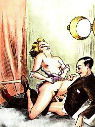 Vintage, Drawing, Drawings, Draw, Erotic