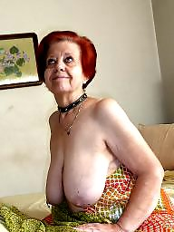 Granny, Slave, Boobs, Granny boobs, Mature slave, Big granny