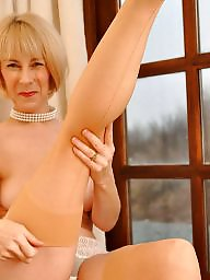 Mature legs, Nylon, Stockings, Granny stockings, Mature nylon, Legs