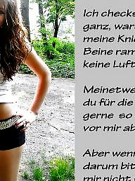 Femdom, Caption, German, Captions, German captions, Teen stockings