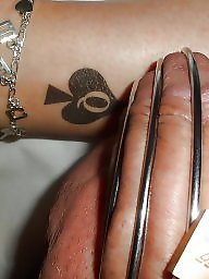 Tattoo, Queen, Tattooed, Interracial amateur