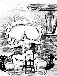 Bbw cartoon, Art