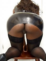 Latex, Ebony, Dressed, Sexy dress, Black milf, Ebony milf