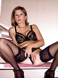 Blonde, Mature upskirt, Mature blonde, Stocking mature, Milf upskirt, Upskirt mature
