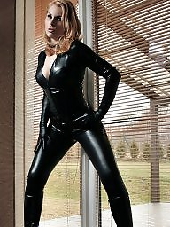 Boots, Leather, Femdom bdsm, Gloves, Catsuit