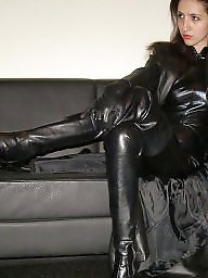 Leather, Boots, Pvc, Latex, Mature porn, Mature leather