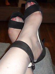 Femdom, High heels, Grey, Vintage milf, Tribute, High