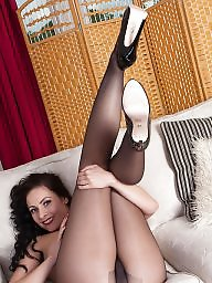 Upskirts, British, Busty milf, Strip, Upskirt stockings, Milf upskirt