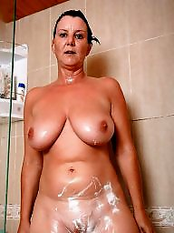 Bathroom, Shower, Mature wife, Wifes