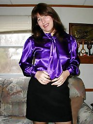 Blouse, Purple, Milf bbw