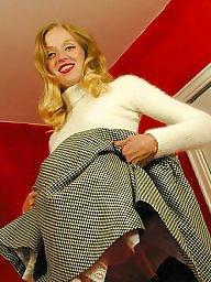 Retro, Vintage, Lady, Model, Upskirt stockings