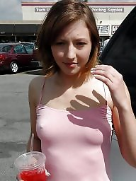 See through, Dress, Dressed, See-through, Public flashing, Through