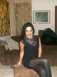 Stockings, Mature stockings, Mature amateur, Lady, Hot mature