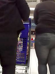 Voyeur, Butt, Candid, Bbw candid, Butts