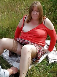 Granny, Grannies, Outdoor, Mature granny, Granny amateur, Fun