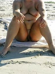 Beach, Clit, Big clit, Bbw beach, Big ass, Sexy milf