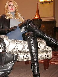 Latex, Leather, Pvc, Amateur mom, Milf in leather, Mature pvc