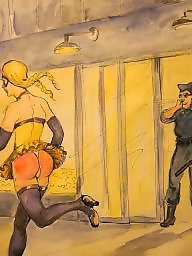 Punish, Femdom bdsm, Bdsm cartoon, Femdom cartoon, Punished, Cartoon bdsm
