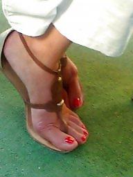 Feet, Candid, Milf feet
