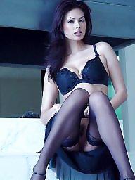 Upskirt stockings, A bra