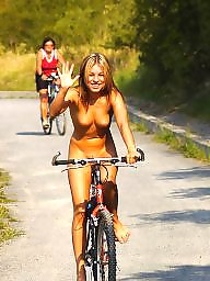 Upskirt, Flashing, Bike, Upskirt pussy, Upskirt flashing, Flashing tits