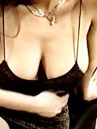Dressed, Sagging tits, Milf dress, Gold